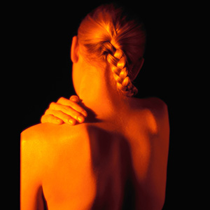 Fibromyalgia's chief characteristic is widespread pain in the muscles, ligaments and tendons; stiffness; fatigue and non-restorative sleep.