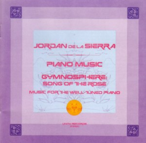 In 1976, De La Sierra sat at a specially tuned piano and recorded this music that includes the reverberations from the inside of the solid-stone Grace Cathedral in San Francisco.
