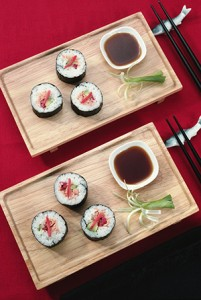In addition to sushi, Moto's menu blends Japanese, Chinese and Thai cuisines with influences from around the Pacific Rim.